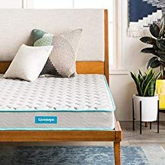 Enter the Linenspa Innerspring Mattress in a Box. This traditional spring mattress from Linenspa features a quilted fabric cover and an inner foam layer to provide comfort and resilience perfect for children. Twin Size Bed Covers, Twin Size Bed Frame, Toddler Bed Mattress, Best Mattress, Mattress Mattress, Box Bed, Queen Mattress, Mattress Springs, Bedroom Furniture