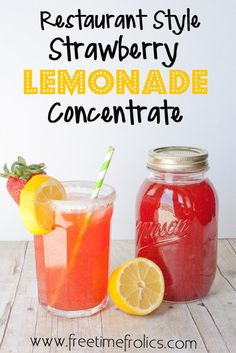 Free Time Frolics: Homemade Restaurant Style Strawberry Lemonade Concentrate