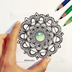 45 minutes well spent.  Couldnt wait to post this fresh new drawing 😁💎 so..two posts in a day !  Have a great week everyone ! 💚. . . . #art #artwork #drawing #mandala #green #gem #mandalamaze #mandalala #mandala_sharing #colorful #shades #heymandalas #art_feature #bestartfeatures #mandalaart #featuremyart #mandalalove #mandaladesign #design #detailed #mandaladrawing #passionformandalas #passion #black #bicpen #ballpen #doodle #creative #tattoodesign #coloringtherapy