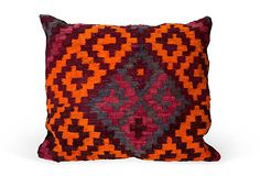 Vintage Kilim pillow, handwoven and vegetable-dyed—yes, please!