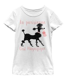 White 'Les Parisiennes' Poodle Tee - Toddler & Girls