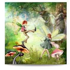 """show-off"" by collagette ❤ liked on Polyvore featuring art and fairies"