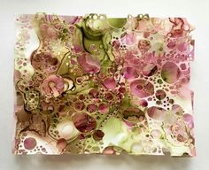 Cells by Jess Kirkman. 4 layers of Yupo. Wow!