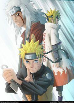 Jiraya, Naruto e Minato Naruto Jiraiya, Naruto Characters, Naruto Minato, Anime, Anime Naruto, Naruto Pictures