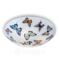 Lampa sufitowa z motylami BUTTERFLY