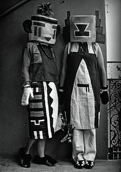 Kachina Doll costume from 1922, by Sophie Taeuber-Arp, Swiss artist, and wife of artist Jean Arp, with whom she collaborated during their long marriage.