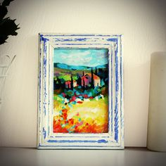 """Original Landscape Painting, """"Tuscany"""" Acrylic Painting, Landscape Art, Original Artwork, Wall Art Canvas, 10cm(w) x 15cm(h) by AngelinaRunkovaArt on Etsy"""