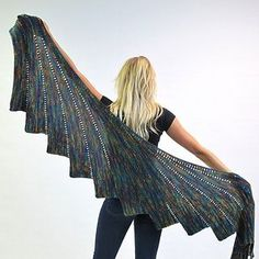 SKEINO's Arabella Shawl is very popular. This one is made from our Bamboo yarn. For this kit we have 3 skeins of super soft Bamboo Blend Yarn with a total of 1305 yards are being used.