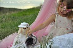 little girl tea party under canopy