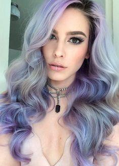 Grey lavender blue hair silver