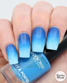 Deborah Milano - Blue Gradient Nail Art