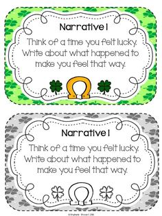 March Writing Prompts.