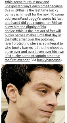 When Bucky took up the shield to protect Steve - his last choice as himself.  This is both the best and the worst thing ever.