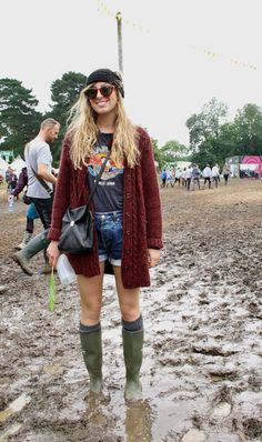 festival chic;  music festivals are THE reason I bought rain boots.