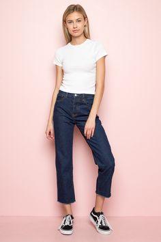 23b595b8ce Millie Denim Pants ♡ Brandy Melville Usa