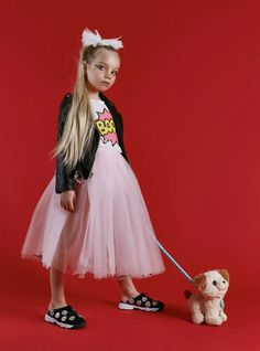 Pop rock styling for the collaboration between Milk & Soda and Laer kids fashion