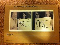 our homemade wedding response card...