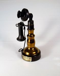 "Vintage 1978, Jim Beam Whiskey ""1897 Candlestick Phone"" Telephone Decanter"