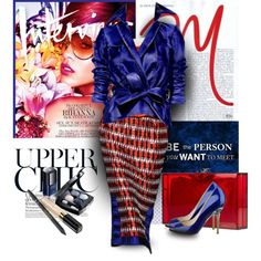A fashion look from April 2013 featuring Aquilano.Rimondi dresses, Dennis Basso and Nine West pumps. Browse and shop related looks.