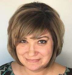Older Women's Brown Balayage Bob