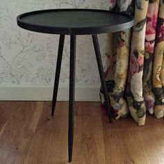 Industrial Round Lipped Side Table from The Farthing Scandi Style, Scandinavian Style, Furniture Projects, Home Furniture, Industrial Design Furniture, Furniture Design, Round Side Table, Side Tables, Family Photo Frames