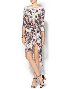 Haute Hippie 3/4 Sleeve Knit Dress - Antique ivory multi by: Haute Hippie @Piperlime
