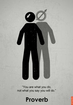 """""""You are what you do, not what you say you will do."""" #quotes #pictoquotes"""