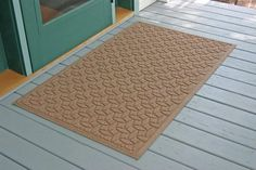 36 in. L x 60 in. W Medium Brown Waterguard Ellipse Mat (Medium Brown) by Bungalow. $68.12. Color: Medium Brown. Ellipse design traps dirt, resists fading, rot and mildew. Indoor and outdoor use. 36 in. L x 60 in. W x 0.5 in. H. Ellipse design traps dirt, resists fading, rot and mildew . Indoor and outdoor use . 36 in. L x 60 in. W x 0.5 in. H. Save 33% Off!