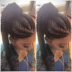 Ghana braids are growing in popularity and are a wonderful style. Check out these unique & hip styles of Ghana braids/Banana braids for your next braids hairdo! Ghana Braids Hairstyles, African Hairstyles, Girl Hairstyles, Braided Hairstyles, Braided Ponytail, Hairstyle Braid, Braids Cornrows, Afro Punk, Iverson Braids