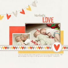 A Project by katieFLapple from our Scrapbooking Gallery originally submitted at PM / nice heart banner Scrapbook Sketches, Scrapbooking Layouts, Scrapbook Pages, Digital Scrapbooking, Scrapbook Paper Crafts, Scrapbook Supplies, Heart Banner, Scrapbook Storage, Baby Boy Scrapbook