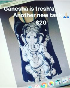 We're getting MORE! These were so popular that a couple of sizes sold out, but don't worry, more are coming so place your order! One of the newest additions to our website! We found this Ganesha tank top and LOVE it! It's super soft and comfy! Only $20 ❤️ online now! ✨✨ #spring #love #holyyoga #yogatank #yogaeverydamnday #yogaaddict #yogalife #meditate #buddha #om#namaste #spiritual #yogagirl #satya #spiritual