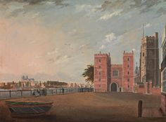 Daniel Turner - Lambeth Palace from the West (c.1802)