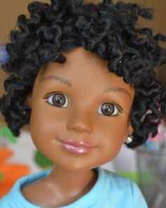 adorable Bantu knot out doll