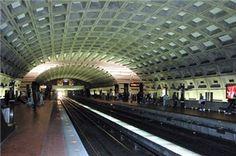 the metro. train travel. To Alexandria,  Virginia, ... Washington D.C