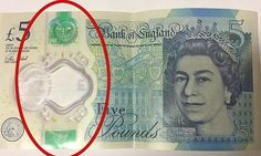 'Indestructible' £5 notes left so tattered that the Big Ben rubs away