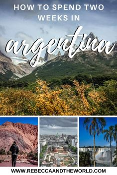 Argentina itinerary: how to spend 2 weeks in Argentina, South America's most diverse country. This itinerary will see you exploring big cities, trekking on glaciers, walking under waterfalls and tasting wine. Argentina South America, Visit Argentina, Argentina Travel, Peru Travel, Solo Travel, Travel Tips, Travel Advice, Travel Articles, Travel Info