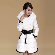 New Casual Fur Collar Warm Long Winter Duck Down Jacket Women Brand Parka Hood Snow Coat