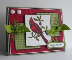 WSC103 Cardinal Christmas by card crazy - Cards and Paper Crafts at Splitcoaststampers