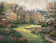 Garden Manor  -- Thomas Kinkade Vault (63 pieces)