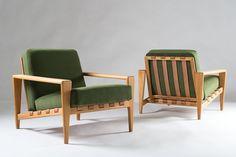 Scandinavian Mid-Century Bodö Lounge Chair by Svante Skogh 2 leather straps!