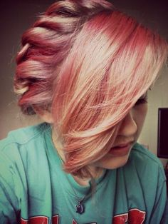red twisted hair