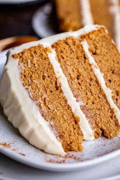 Spice Cake Mix Recipes, Easy Cake Recipes, Frosting Recipes, Homemade Spice Cake Recipe, Homemade Cake Frosting, Dessert Recipes, Fall Recipes, Appetizer Recipes, Holiday Recipes