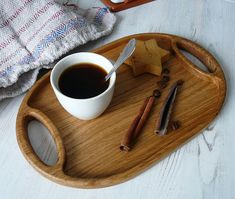 Wood serving tray deecorative tray oak tray