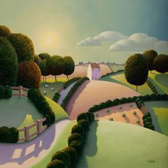 "Paul Corfield, Our Little Farm - Oil on canvas - 24"" x 24"""