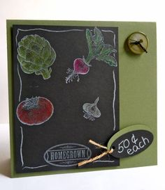 WT340, Chalkboard Vegetables... by Luv Flowers - Cards and Paper Crafts at Splitcoaststampers
