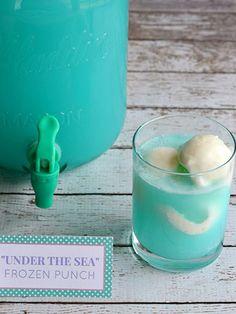 Blue Raspberry Lemonade Sherbet Punch
