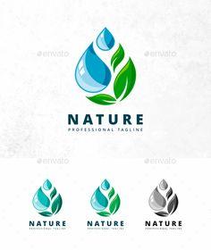 Nature Drop Logo: Nature Green Logo Design Template by Logos, Typography Logo, Typography Design, Branding Design, Powerpoint Design Templates, Logo Templates, Logo Design Inspiration, Icon Design, Design Design