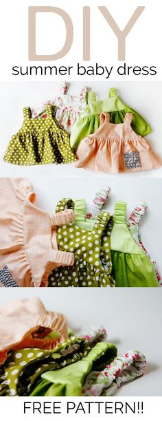 Sewing Baby Girl Easy baby dress pattern for summertime. - learn to sew an easy baby dress pattern free, free baby dress pattern, free and easy baby top pattern, easy baby top pattern, free pdf pattern Baby Dress Pattern Free, Baby Dress Patterns, Sewing Patterns Free, Free Sewing, Clothing Patterns, Sewing Tutorials, Top Pattern, Sewing Tips, Pattern Dress