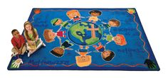 Cute Rug with the Great Commission on it.