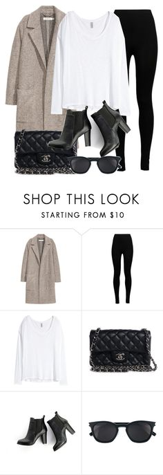 """Untitled #11837"" by vany-alvarado ❤ liked on Polyvore featuring H&M, Wolford, Chanel, SWEET MANGO and Yves Saint Laurent"